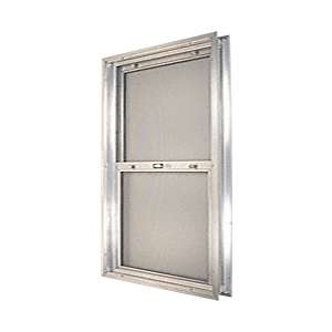 "CRL BAP308 Satin Anodized 24-3/4"" x 30-1/8"" Bel-Air ""Plaza"" Combination Door Unit with Clear Tempered Glass and Mill Frame for 1-3/8"" 3-0 Slab Door"