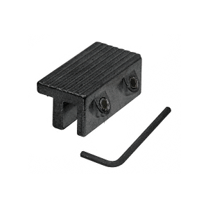Black Tamper-Resistant Window Lock Dual Hex Screws