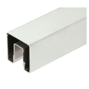 "CRL GRS15BS14 Brushed Stainless 1-1/2"" Square Premium Cap Rail for 1/2"" Glass - 168"" Long"