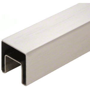 "CRL SRF15BS 316 Brushed Stainless 1-1/2"" Square Roll Formed Cap Rail - 19'-8"""