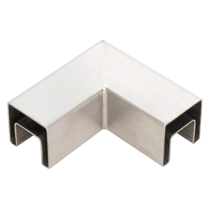CRL SRF15HBS Brushed Stainless Steel 90 Degree Horizontal Roll Formed Cap Rail Corners
