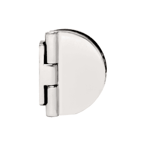 CRL EH185 Satin Chrome Half Round Light Duty Frameless Shower Door Hinge