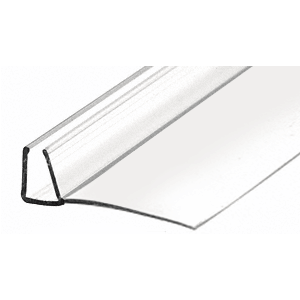 """CRL PCSER78 95"""" Clear Poly U-Channel with 1-1/8"""" (28.5 mm) Fin for 3/8"""" Glass"""