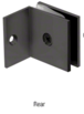 CRL SGC037MBL Matte Black Fixed Panel Square Clamp With Small Leg