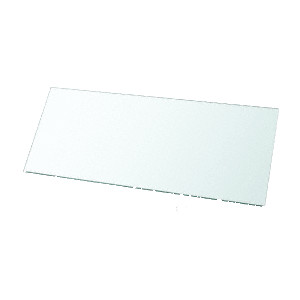 """10"""" x 24"""" Rectangle 3/8"""" Clear Tempered Glass Shelf - pack of 3"""