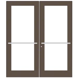 CRL-U.S. Aluminum DC52722 Bronze Black Anodized Custom Pair Series 550 Wide Stile Center Pivot Entrance Door for Overhead Concealed Door Closers