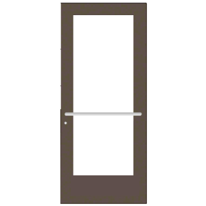CRL-U.S. Aluminum CD52722LA36 Bronze Black Anodized 550 Series Wide Stile Active Leaf of Pair 3'0 x 7'0 Center Hung for OHCC w/Standard Push Bars Complete ADA Door(s) with Lock Indicator, Cyl Guard
