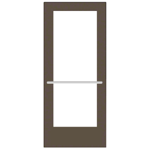 CRL-U.S. Aluminum CD52722R136 Bronze Black Anodized 550 Series Wide Stile Inactive Leaf of Pair 3'0 x 7'0 Center Hung for OHCC w/Standard Push Bars Complete ADA Door(s) with Lock Indicator, Cyl Guard