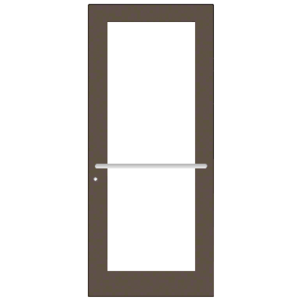 CRL-U.S. Aluminum DC52722LA36 Bronze Black Anodized 550 Series Wide Stile Active Leaf of Pair 3'0 x 7'0 Center Hung for OHCC w/Standard Push Bars Complete Door Std. MS Lock and Bottom Rail