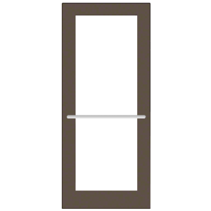 CRL-U.S. Aluminum DC52722R136 Bronze Black Anodized 550 Series Wide Stile Inactive Leaf of Pair 3'0 x 7'0 Center Hung for OHCC w/Standard Push Bars Complete Door Std. MS Lock and Bottom Rail