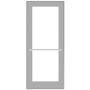 CRL-U.S. Aluminum DC52711LA36 Clear Anodized 550 Series Wide Stile Active Leaf of Pair 3'0 x 7'0 Center Hung for OHCC with Standard Push Bars Complete Door Std. MS Lock and Bottom Rail