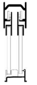 CRL SDK6060BAEXT SDK6060BA Sliding Shower Door System No Towel Bar or Knob