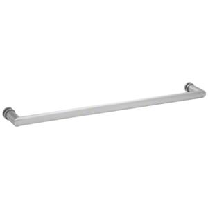"""CRL 0R24SC 24"""" Satin Chrome Single-Sided Oval/Round Towel Bar"""