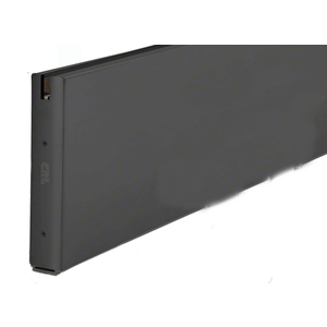 "Black Powder Coat 10"" x 120"" Length Square Sidelite Rail"