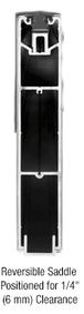 "CRL SR10SBL3812SL Black Powder Coat 10"" x 120"" Length Square Sidelite Rail"