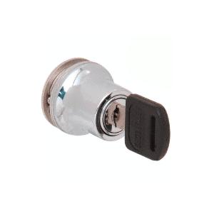 CRL LK50 Polished Chrome Lock for Cabinet Glass Door