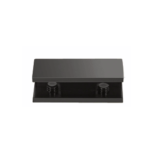 CRL NDC4MBL Matte Black No-Drill Fixed Panel Glass Clamp
