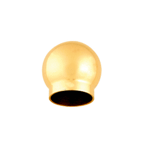 "CRL HR20BPB Polished Brass 3-5/16"" Ball Type End Cap for 2"" Tubing"