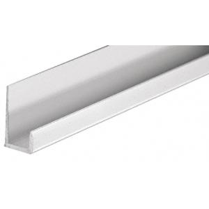 "CRL D516A Satin Anodized Standard Aluminum 5/16"" J-Channel 144"" Stock Length"