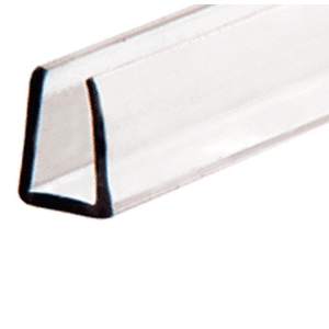 "Clear 1/4"" Plastic Edge Molding"