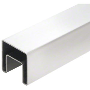 "CRL SRF20PS 316 Polished Stainless 2"" Square Roll Formed Cap Rail - 19'-8"""