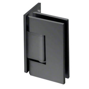 CRL V1E044MBL Matte Black Vienna 044 Series Wall Mount Offset Back Plate Hinge