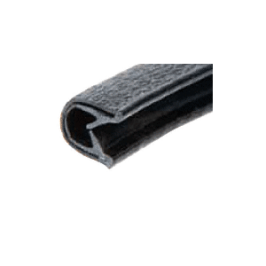 "Black Sof-Tone QuickEdge Standard Double Lip QuickEdge Trim for 1/32"" to 1/8"""