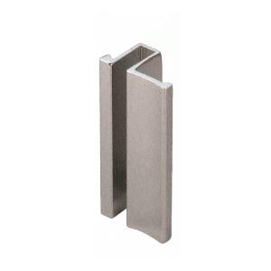 """CRL S0H238BN Brushed Nickel Slip-On Handle for 3/16"""" or 1/4"""" Frameless Sliding Door"""