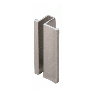 "Brushed Nickel Slip-On Handle for 3/16"" or 1/4"" Frameless Sliding Door"