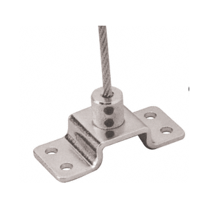 CRL CB81 Brushed Nickel Plated Fixed Base Floor Fitting for Cable Display System