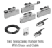 CRL CRL502CSP2 50 Series Ceiling Mount Synchronized and Telescoping Kit