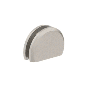 """CRL CABR65BN Brushed Nickel 180 with Rounded Style Clamp - 65"""""""