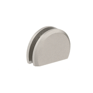 """CRL CABR84BN Brushed Nickel 180 with Rounded Style Clamp - 84"""""""