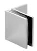 CRL SGC037CH Polished Chrome Fixed Panel Square Clamp With Small Leg