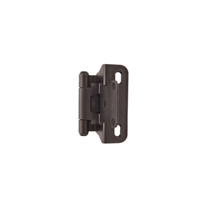Amerock BPR7566ORB Functional Hardware Self Closing Partial Wrap Cabinet Hinge 1/4 Inch Overlay Oil Rubbed Bronze - Pair