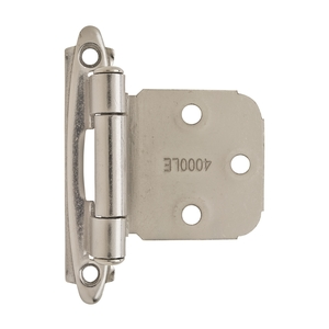Amerock BPR7629G10 Variable Overlay Self Closing Face Mount Cabinet Hinge Satin Nickel Finish - Pair