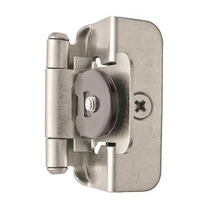 "Amerock BPR8704G10 1/2"" (13 mm) Overlay Double Demountable Cabinet Hinge Satin Nickel Finish - Pair"