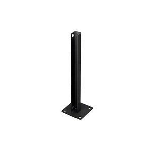 CRL PSB1CBL Matte Black AWS Steel Stanchion for 180 Degree Round or Rectangular Center or End Posts