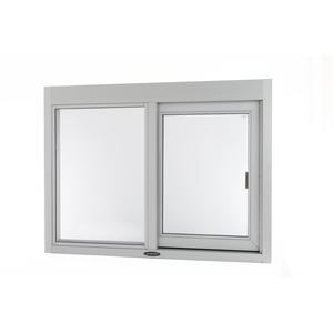 """Brixwell 9046-CL 36-3/8""""(w) x 36-3/8""""(h) 14-1/2"""" (w) x 29""""(h) Self-Closing Side Sliding Transaction Window With 1/4"""" Clear Tempered Glass Left Hand Slide Clear Anodized Aluminum"""