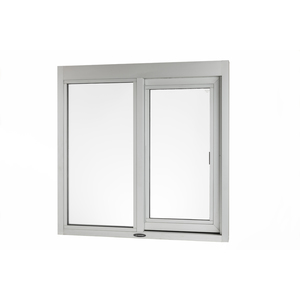 """Brixwell 9180-BL 48-3/8""""(w) x 48-3/8""""(h) 20-1/4"""" (w) x 41"""" (h) Self-Closing Side Sliding Transaction Window With 5/8"""" Insulated Glass Left Sliding With Energy Efficient Dark Bronze"""