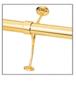 "CRL FRCB20PB Polished Brass Combination Foot Railing Bracket for 2"" Tubing"