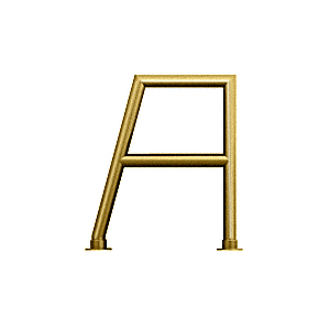 """Polished Brass Elegant 160 Series 1-1/2"""" Tubing Glass On Top, Shelf, and Front Only Sneeze Guard"""