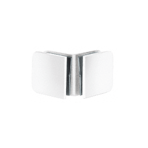 White 90 Degree Traditional Style Glass-to-Glass Clamp