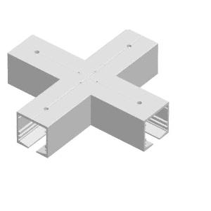 Mill Aluminum Standard Manual 4-Way Cross Intersection