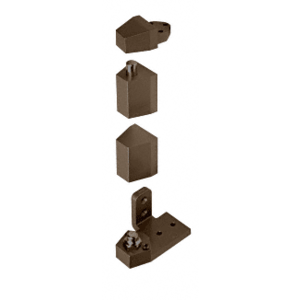 "CRL 0P31RHDU Dark Bronze Offset Right Hand Pivot Set with 1/8"" Recess"
