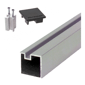 "CRL 6406512 Satin Anodized 12"" End Aluminum Counter Post"