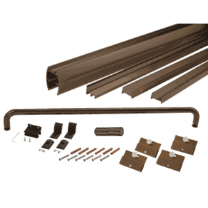 "CRL DK1460600RB Oil Rubbed Bronze 60"" x 60"" Cottage DK Series Sliding Shower Door Kit with Metal Jambs for 1/4"" Glass"