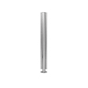 "CRL SBPP08CBS Brushed Stainless 18"" x 1"" SBPP08 Slimline Series Round Center Partition Post"