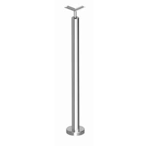 "Polished Stainless 36"" P7 Series Corner Post Railing Kit No Fittings"