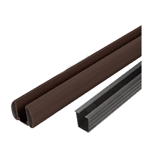 "Bronze AWS 36"" Bottom Rail Kit with Rigid Glazing Vinyl"